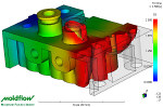 Insert, overmolding and in mould decoration simulation using Moldflow 3D analysis software.